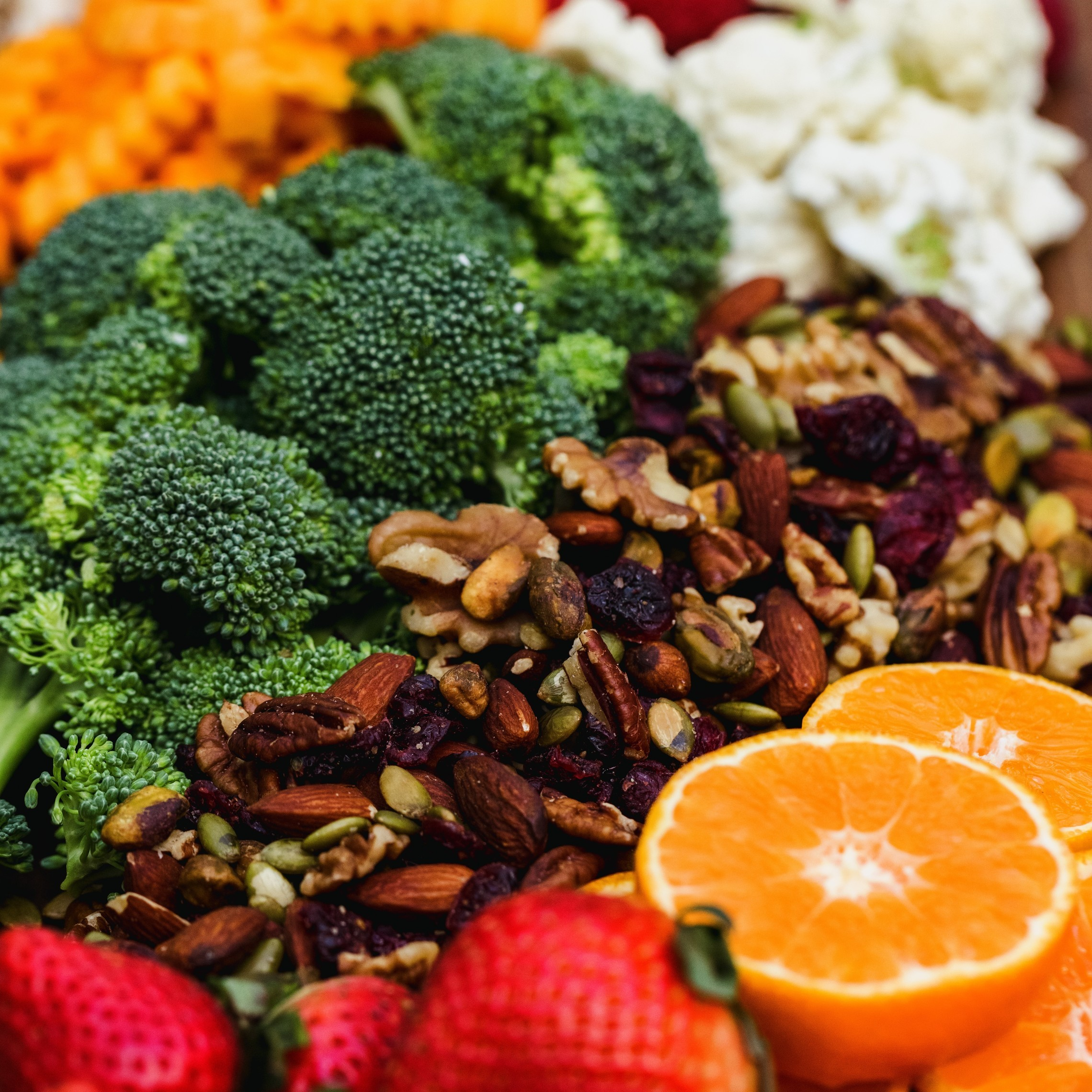 Fruits Vegetables and Nuts